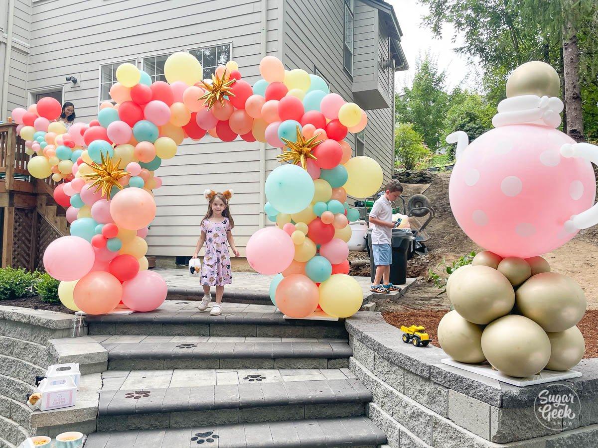 balloon arch entrance