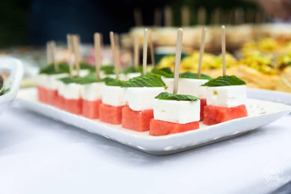 watermelon feta mint appetizers