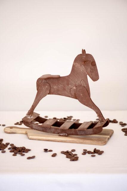 chocolate horse showpiece